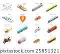 Vector Transport Icons in Isometric Projection 25651321