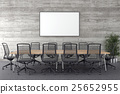 Conference room with blank picture frame  25652955