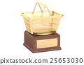 Golden Shopping Award concept, 3D rendering 25653030