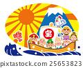 泰雅雄鸡七福神和富士山年 25653823