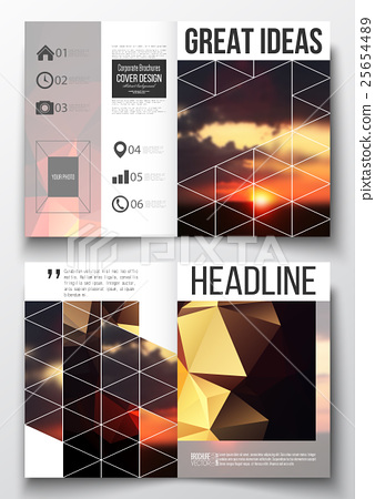 Set of business templates for brochure, magazine 25654489