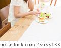여성, 식사, 샐러드 25655133