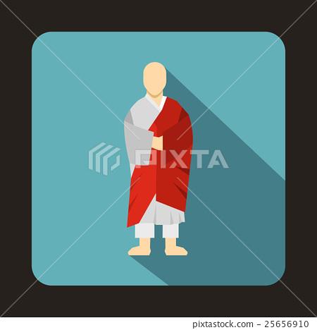 Korean monk icon in flat style 25656910