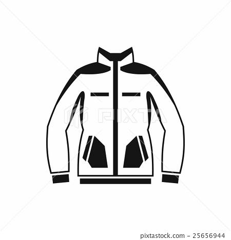 Men winter jacket icon, simple style 25656944