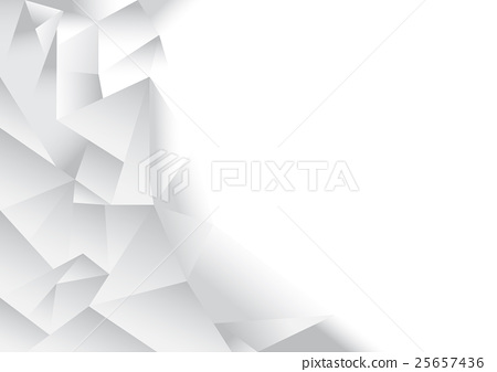 polygon pattern background, white and grey theme - Stock