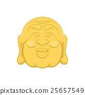 Budha head icon, cartoon style 25657549