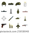 military, icons, set 25658048
