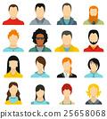 Avatars icons set, flat style 25658068