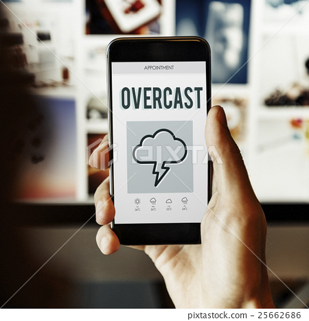 Forecast Overcast Weather Report Concept 25662686