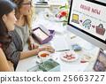 Online Shopping Web Shop E-shopping Concept 25663727