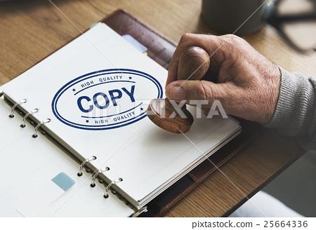 Copy Duplicate Print Scan Transcript Counterfoil Concpet 25664336