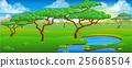 Safari African Savannah Scene Landscape 25668504