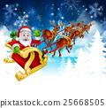 Santa Sleigh Christmas Background 25668505