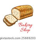 bread, wheat, sketch 25669203