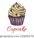 컵케이크, 케이크, 벡터 25669279