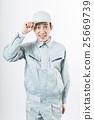 男人穿著工作服 25669739