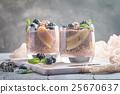chocolate chia pudding with banana 25670637