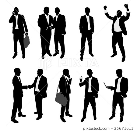business people silhouettes collection 25671613
