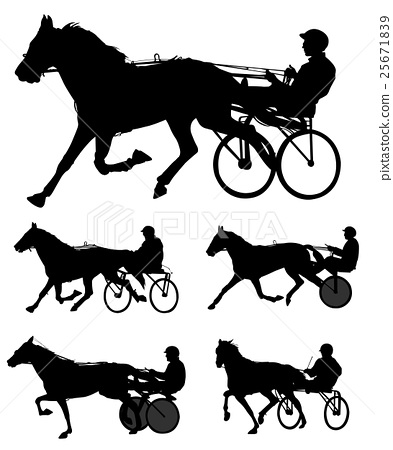 trotters race silhouettes 25671839