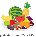 group of fruits in vector 25671858