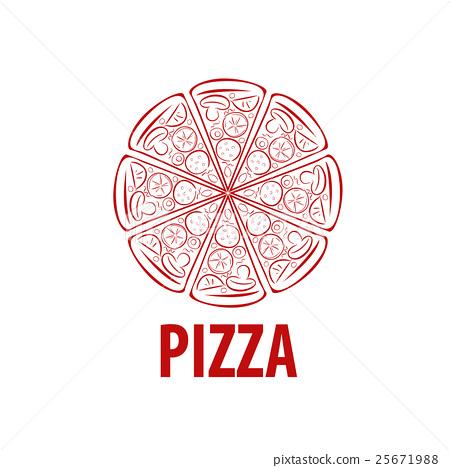 pizza vector logo stock illustration 25671988 pixta