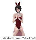 兔女郎 兔子 兔 25674749