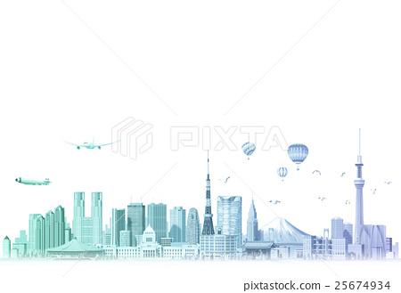 东京 街道 市容 25674934