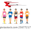 RUNNING PEOPLE VECTOR CONCEPT 25677217