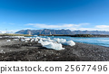 Scenic view of icebergs in glacier lagoon, Iceland 25677496