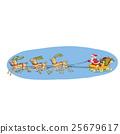 sleigh reindeer santa 25679617