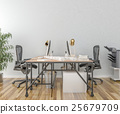 Work desk in empty room  25679709