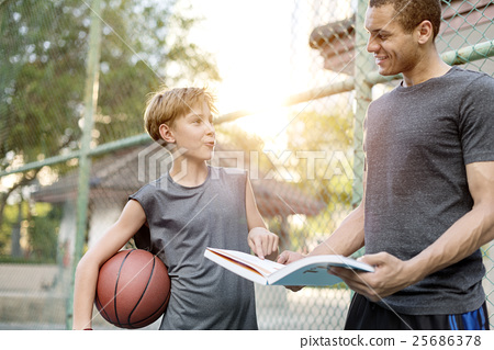 Basketball Athlete Sport Skill Playing Exercise Concept 25686378