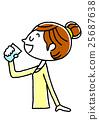 年轻的女士补水 25687638