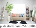 흰 벽으로 둘러싸인 간단한 방 25688886