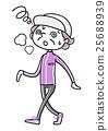 体育:累了的高级女性 25688939