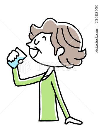 Senior women who hydrate 25688950