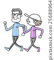 Sports: Senior couple walking 25688964