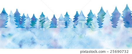 森林剪影的例證 25690732