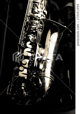 Saxophone alto jazz music instrument close up  25691994