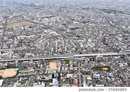 Aerial view of Nishinomiya-shi, Hyogo prefecture 25694860