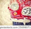 Vintage car digital watercolor painting 25698071