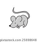 Mouse standing alone cartoon 25698648