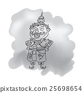 Thai legendary giant king cartoon drawing 1 25698654