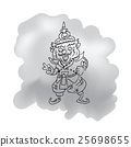 Thai legendary giant king cartoon drawing 2 25698655