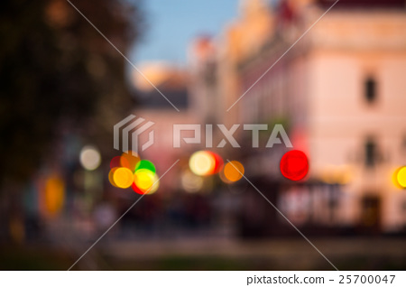 old city night street blurred abstract image 25700047