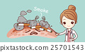 cartoon woman dentist with cigarette 25701543