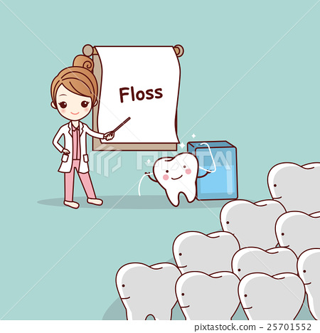dentist teach teeth use floss 25701552