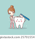 woman dentist brush clean teeth 25701554