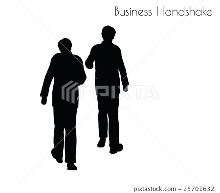 man in  Business Handshake pose 25701632