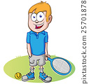 tennis player cartoon on white background 25701878